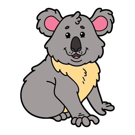 scrap book: Cute koala. illustration of cute cartoon koala character for children and scrap book