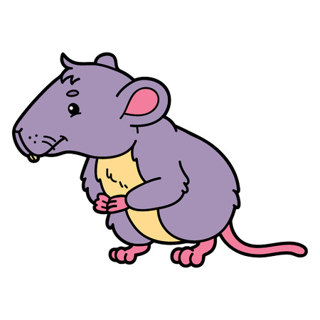 vole: Cute vole.  illustration of cute cartoon vole character for children and scrap book Illustration