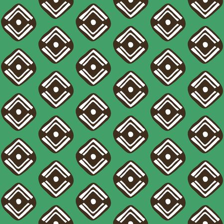 simple pattern. vector hand drawn simple seamless pattern with geometrical motif