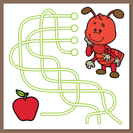 apple character: Cute ant game.
