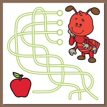 ant cartoon: juego lindo de la hormiga.