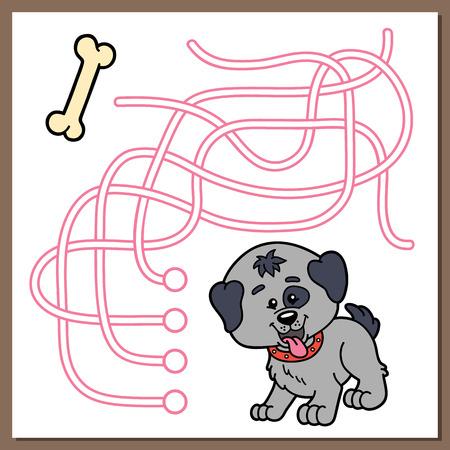 chubby cartoon: Cute dog game.