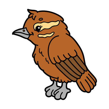 scrap book: Cute cartoon xenops . Vector illustration of cute cartoon bird character for children and scrap book