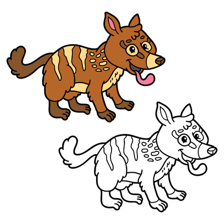 Niños Educativos Para Colorear De Dibujos Animados. Vector Colorear ...