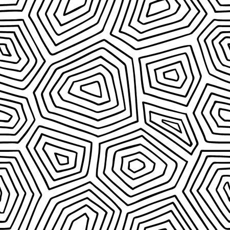 화려한 거북이 껍질 패턴. 낙서 껍질 낙서와 원활한 패턴