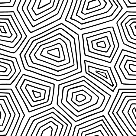 ornate turtle shell pattern. seamless pattern with doodle turtle shell