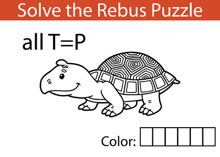 Bambini Rebus illustrazione game.Vector di rebus gioco educativo per i bambini