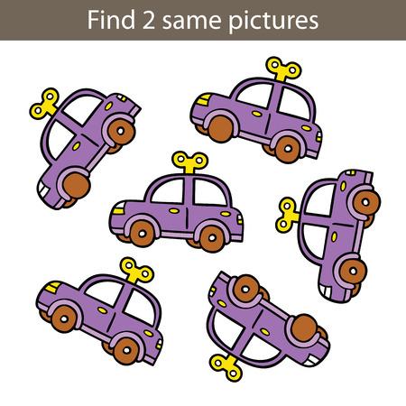 아이의 아이 교육 game.Vector 그림은 취학 전 아동을위한 교육 게임 퍼즐 일러스트