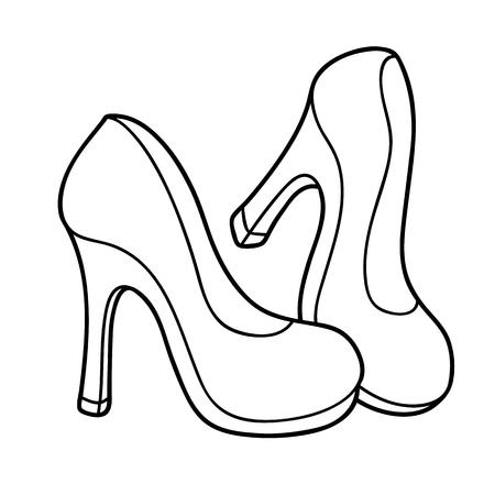 Vector La Ilustración De Los Zapatos De Tacón Alto Lindos De