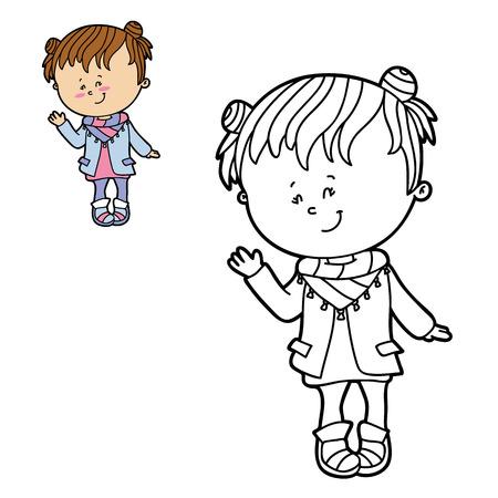 Ilustración Vectorial Para Colorear De Dibujos Animados De Zapatos ...
