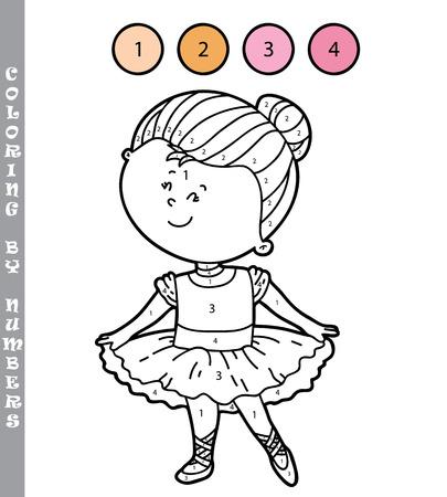 Ilustración Vectorial Para Colorear Por Números Juego Educativo Con ...
