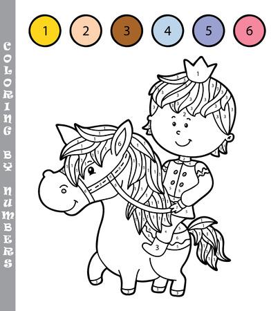 Vektor-Illustration Malvorlagen Von Glückliche Cartoon Jungen Für ...