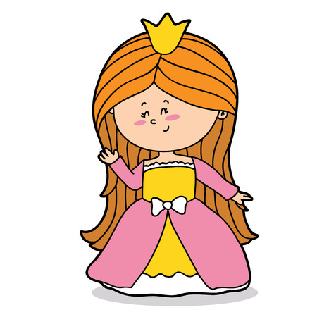 scrap book: Vector illustration of cute cartoon girl character for children and scrap book