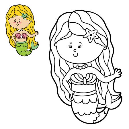 Vector Las Ilustraciones Para Colorear Página De Niño Feliz De ...