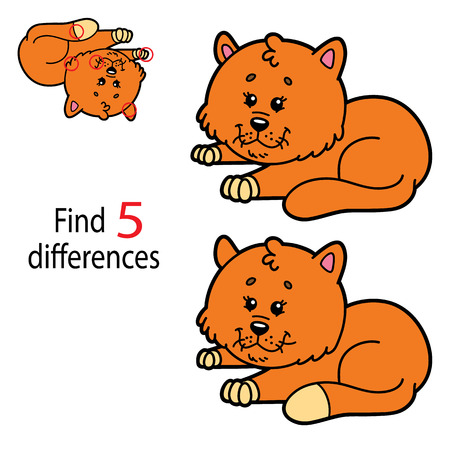 spot the difference: Vector illustration of kids puzzle educational game Find 5 differences for preschool children Illustration