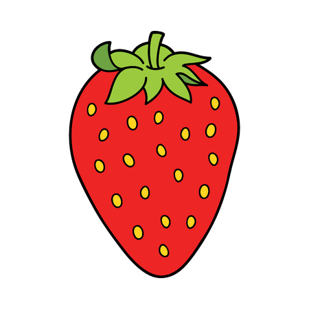 Vector illustration of cute cartoon strawberry for children and scrap book Illustration