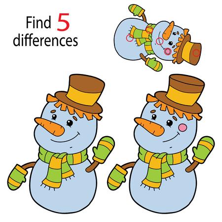 Encontre 5 diferenças para crianças em idade pré-escolar