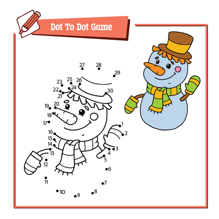 Dot to dot educational puzzle game