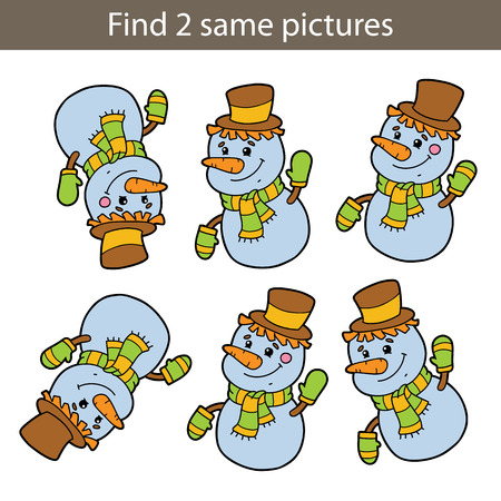 Kids puzzle educational game Find same pictures