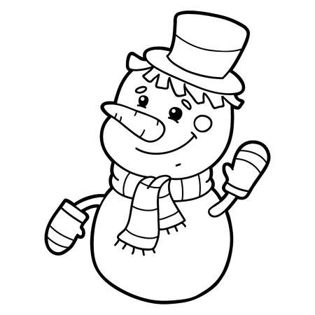 Dibujo Para Colorear De Personaje De Muñeco De Nieve De Dibujos ...