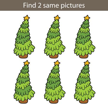 ilustración del vector de puzzle puzzle educativo juegos encontrar mismas personas para niños preescolar Ilustración de vector