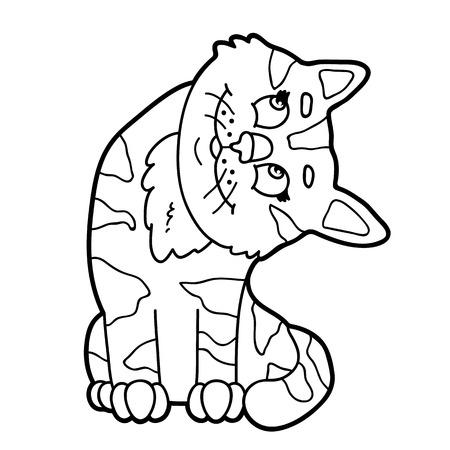 Personaje De Dibujos Animados Lindo Perro Para Niños, Página Para ...