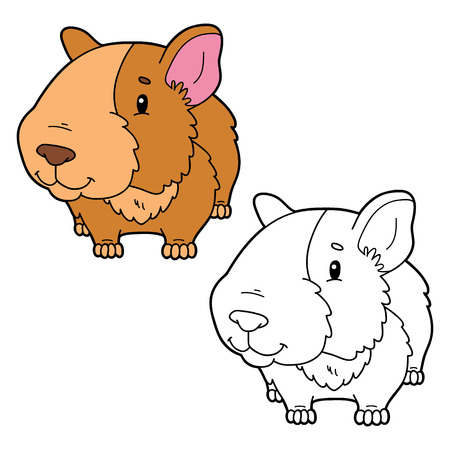 A Vector illustration of cartoon characters for children coloring book and scrap book Vectores