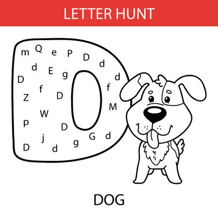 Ilustración Vectorial De Niños Imprimibles Alfabeto Hojas De ...