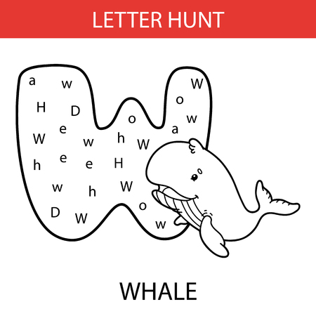 Vector Illustration Of Printable Kids Alphabet Worksheets. W.. Royalty Free  Cliparts, Vectors, And Stock Illustration. Image 97278245.