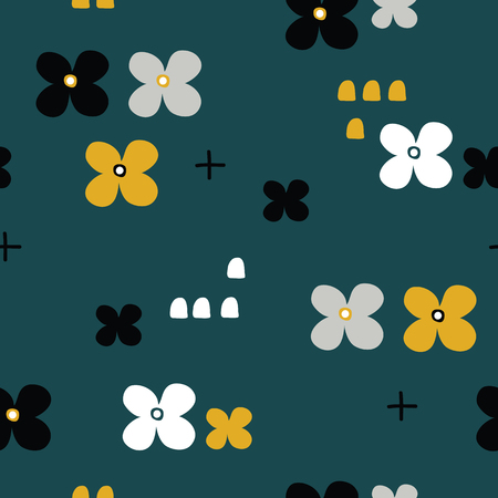 vector seamless background patterns in Scandinavian style, cartoon cute nesing dolls, characters, elements for fabric design, wrapping paper, notebooks covers