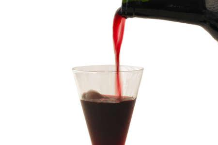 ワインのワインのコップを埋める 写真素材