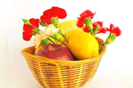 A basket with fruit and flower Stock Photo - 4681675