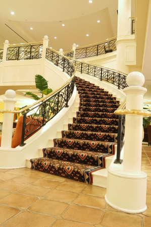 shiny floor: Hotel lobby
