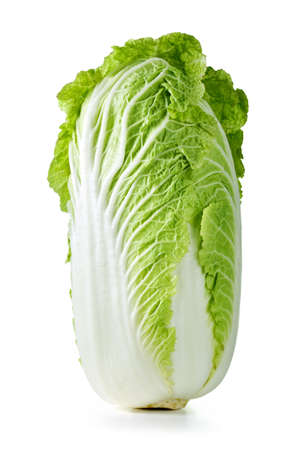 Fresh chinese cabbage on white background, studio shot Stock Photo