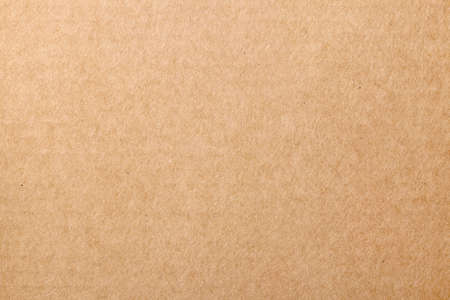 Brown cardboard carton texture for background. Top view  Stock Photo