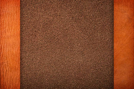 margins: Brown leather textures for background, composition with margins