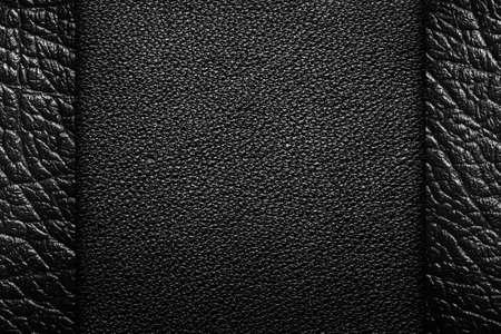Black leather textures for background, composition with margins photo