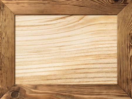 Cornice in legno naturale con tavola di legno all'interno Archivio Fotografico - 17815426