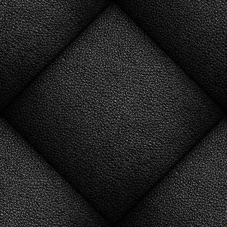 Seamless pattern of black leather texture for background Stock Photo