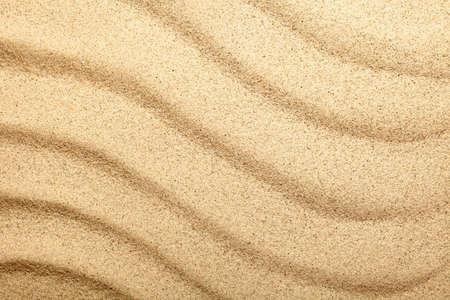 Spiaggia di sabbia. Struttura della sabbia per lo sfondo. Vista dall'alto Archivio Fotografico - 18698030