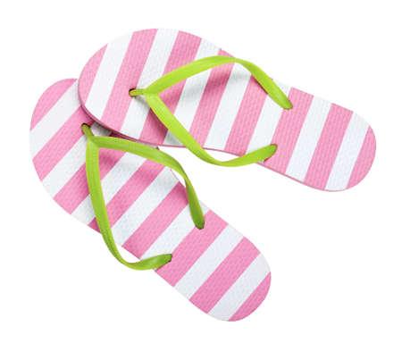 flip flops: Flip flops isolated on white background.