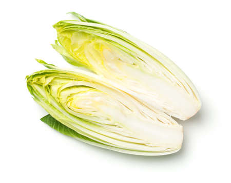 Chicory isolated on white background. Top view Stockfoto