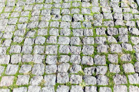 adoquines: Plaza de adoquines de piedra Foto de archivo