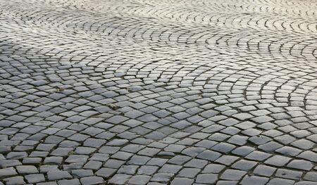 adoquines: Winding adoquines de piedra