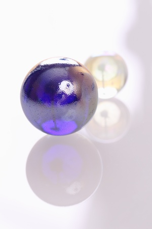 christal: Blue and transparent balls