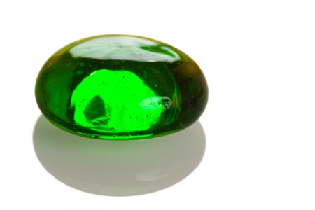 christal: Green glass drop