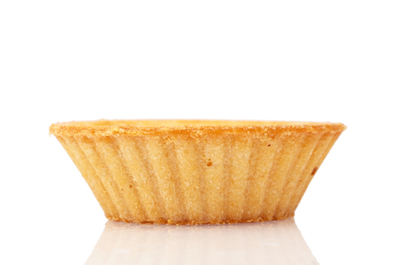 tartlet: Empty tartlet isolated on the white background Stock Photo