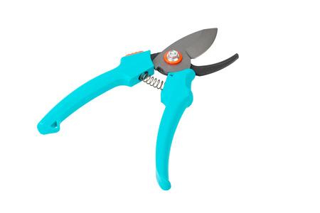 snipping: Single garden pruner, isolated on white background
