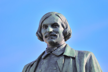 Monument of Nikolay Vasilyevich Gogol, great russian writer. Moscow, Russia