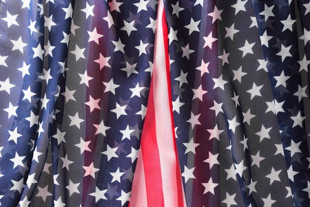 Decoration in american flag style as background Stock Photo